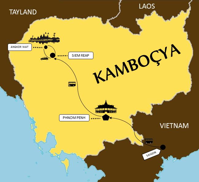 Kamboçya Rotası