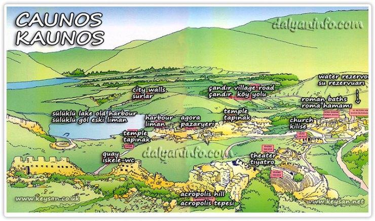 Dalyan_caunos_map